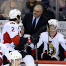 Ottawa Senators' Jared Cowen (2) receives instructions from coach Paul MacLean during the third period of a preseason NHL hockey game against the Winnipeg Jets on Tuesday, Sept. 30, 2014, in Winnipeg, Manitoba The Associated Press