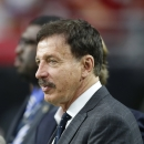 St. Louis Rams owner Stan Kroenke watches his team warm up prior to an NFL football game against the Arizona Cardinals Sunday, Nov. 9, 2014, in Glendale, Ariz. (AP Photo/Ross D. Franklin)