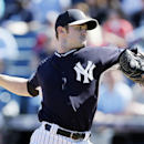 New York Yankees relief pitcher David Robertson throws a pitch during the fourth inning of an exhibition baseball game against the Washington Nationals, Monday, March 3, 2014, in Tampa, Fla The Associated Press