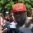 Kansas City Chiefs linebacker Tamba Hali talks to members of the media on Wednesday, July 23, 2014, before NFL football training camp on Wednesday, July 23, 2014, in St. Joeph, Mo The Associated Press