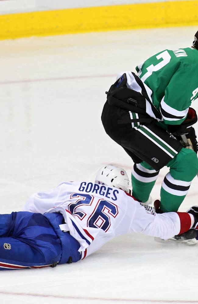 Eller scores in 3rd, Canadiens beat Stars 6-4