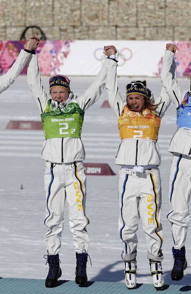 Sweden wins women's Olympic cross-country relay