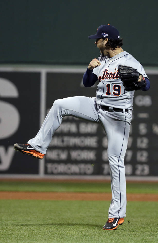 Tigers nearly no-hit Red Sox, win ALCS opener 1-0