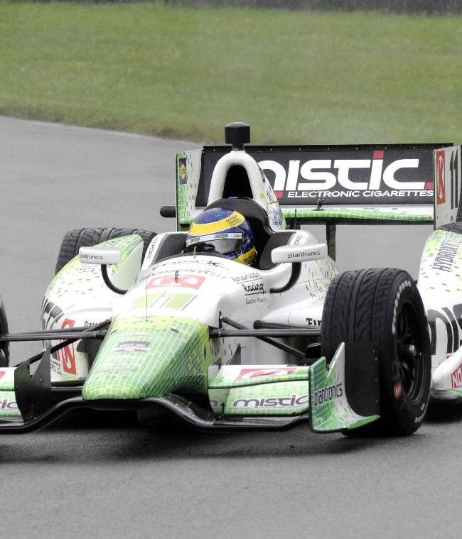Bourdais battles weather, other cars to get pole