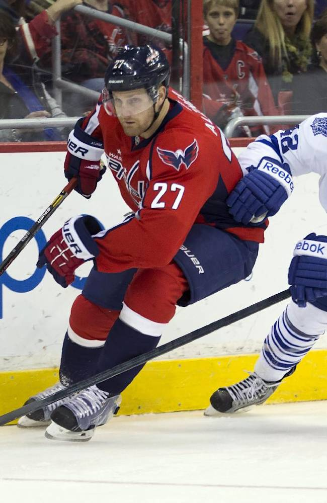 Capitals double up Maple Leafs 4-2