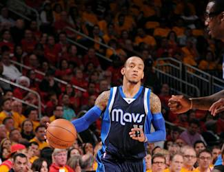 HOUSTON, TX - APRIL 28: Monta Ellis #11 of the Dallas Mavericks drives against the Houston Rockets in Game Five of the Western Conference Quarterfinals during the NBA Playoffs on April 28, 2015 at the Toyota Center in Houston, Texas. (Photo by Bill Baptist/NBAE via Getty Images)