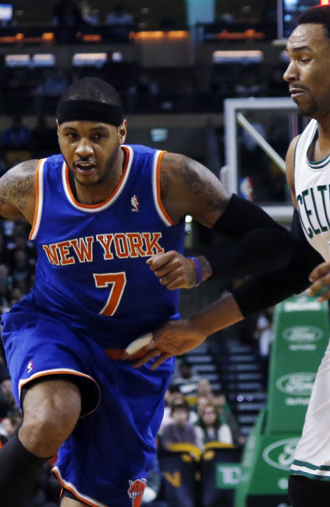 Anthony carries Knicks past Celtics, 116-92
