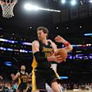 LOS ANGELES, CA - MARCH 21: Pau Gasol #16 of the Los Angeles Lakers makes a move to the basket against the Washington Wizards at Staples Center on March 21, 2014 in Los Angeles, California. (Photo by Noah Graham/NBAE via Getty Images)