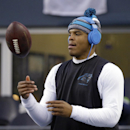 Carolina Panthers quarterback Cam Newton warms up before an NFL divisional playoff football game against the Seattle Seahawks in Seattle, Saturday, Jan. 10, 2015 The Associated Press