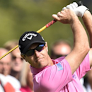 Nicolas Colsaerts from Belgium follows his shot during the second round of the European Tour Golf Tournament in Himmerland, Denmark, Friday, Aug. 15, 2014. (AP Photo/Polfoto, Rene Schuetze) DENMARK OUT