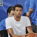 ORLANDO, FL - JULY 11: Michael Carter-Williams #1 of the Philadelphia 76ers sits on the sideline during a game against the Memphis Grizzlies during the Samsung NBA Summer League 2014 on July 11, 2014 at Amway Center in Orlando, Florida. (Photo by Fernando Medina/NBAE via Getty Images)