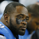 Detroit Lions defensive tackle C.J. Mosley (99) is seen on the bench during the second half of an NFL football game against the New Orleans Saints in Detroit, Sunday, Oct. 19, 2014 The Associated Press