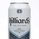 This product image provided by Hilliard's shows a can of their 12th man beer. Businesses through the upper left corner of the country are trying to capitalize the pride of the Seahawks fans. Whether it's getting Russell Wilson to be the pitchman for the l