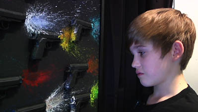 Young Artist Focuses on Gun Violence Through Art