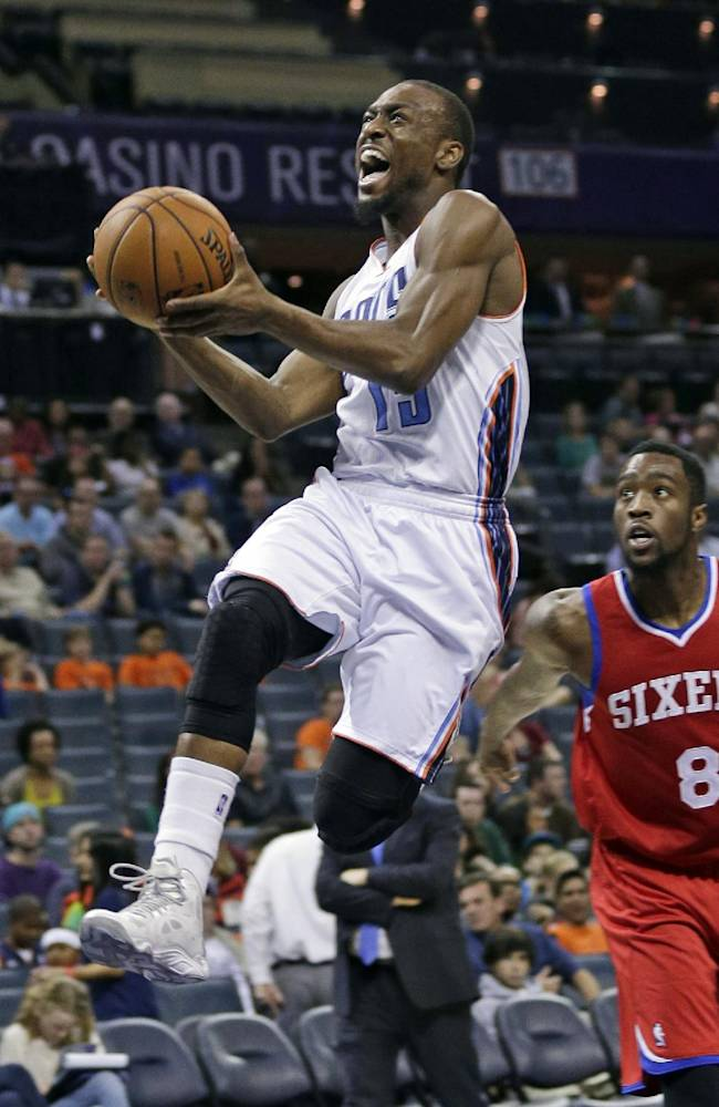 Taylor fills in with 20, Bobcats beat 76ers 105-88