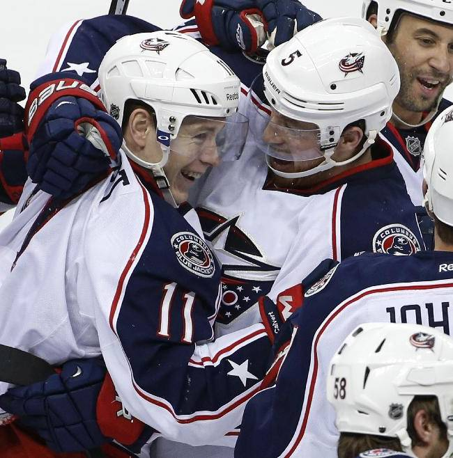 Blue Jackets edge Penguins 4-3 in double overtime
