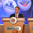 NEW YORK, NY - MAY 21: President Bryan Colangelo of the Toronto Raptors during the 2013 NBA Draft Lottery on May 21, 2013 at the ABC News'
