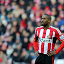 Sunderland's Jermain Defoe is seen during their English FA Cup fourth round soccer match between Sunderland and Fulham at the Stadium of Light, Sunderland, England, Saturday, Jan. 24, 2015