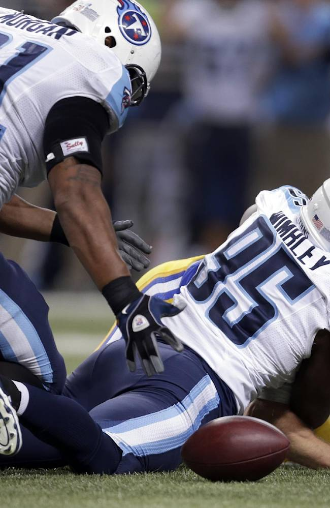 Titans stingy on defense everywhere except run