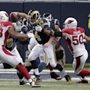 St. Louis Rams quarterback Shaun Hill (14) is sacked by Arizona Cardinals' Larry Foote (50) during the second half of an NFL football game Thursday, Dec. 11, 2014 in St. Louis The Associated Press