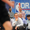 CHICAGO, IL - MAY 17: Orlando Magic Assistant General Manager Matt Lloyd takes in the action on Day 2 of the 2013 NBA Draft Combine on May 17, 2013 at Quest Multiplex in Chicago, Illinois. (Photo by Randy Belice/NBAE via Getty Images)