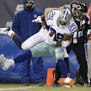 Chicago Bears safety Chris Conte pulls Dallas Cowboys running back DeMarco Murray (29) out of bounds before the end zone during the first half of an NFL football game, Monday, Dec. 9, 2013, in Chicago The Associated Press