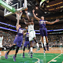 BOSTON, MA - NOVEMBER 17: Jeff Green #8 of the Boston Celtics goes for the lay against the Phoenix Sunsduring the game on November 17, 2014 at TD Garden in Boston, Massachusetts. (Photo by Brian Babineau/NBAE via Getty Images)