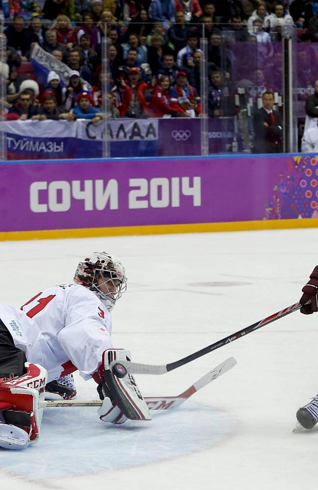 Canada holds off Latvia 2-1 in Olympic thriller