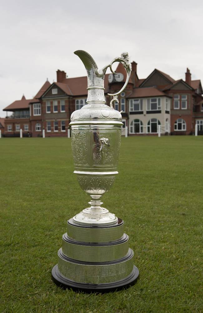 The British Open Golf trophy the