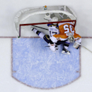 St. Louis Blues' Vladimir Sobotka (17), of the Czech Republic, crashes into the net with Philadelphia Flyers' Steve Mason (35) during the first period of an NHL hockey game, Saturday, March 22, 2014, in Philadelphia The Associated Press