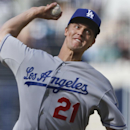 Los Angeles Dodgers starting pitcher Zack Greinke pitches to the San Diego Padres in the first inning of a baseball game Tuesday, April 1, 2014, in San Diego The Associated Press