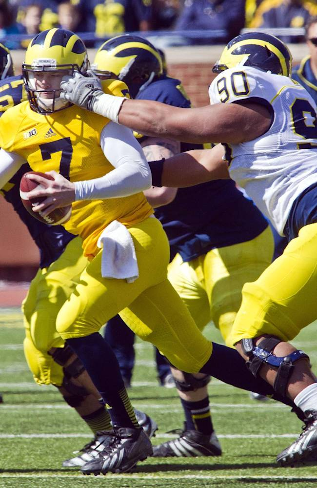 Michigan looks shaky in its spring finale