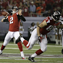 Atlanta Falcons quarterback Matt Ryan (2) works against the Tampa Bay Buccaneers during the first half of an NFL football game, Thursday, Sept. 18, 2014, in Atlanta The Associated Press