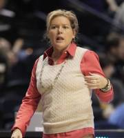 Vanderbilt head coach Melanie Balcomb watches action against Mississippi State in the first half of an NCAA college basketball game at the women's Southeastern Conference tournament on Thursday, March 1, 2012, in Nashville, Tenn. (AP Photo/Mark Humphrey)