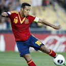 FILE - In this June 18, 2013 file picture Spain's Thiago Alcantara scores his sides second goal during the final of the European U21 Soccer Championship match against Italy in Jerusalem. German news agency dpa says Thursday July 13, 2013, Champions League winner Bayern Munich's new coach Pep Guardiola wants to sign Barcelona midfielder Thiago Alcantara. Guardiola reportedly told Bayern chairman Karl-Heinz Rummenigge