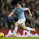 Manchester City s Samir Nasri takes the ball down field during his team s 3-0 win over Swansea City in their English Premier League soccer match at the Etihad Stadium, Manchester, England, Sunday, Dec. 1, 2013