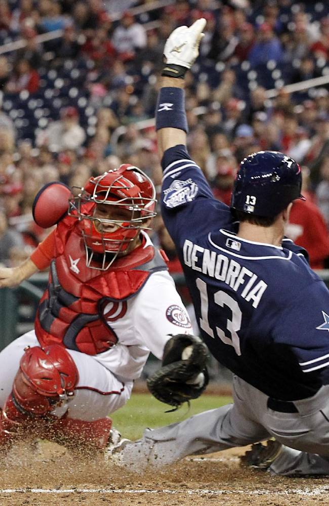 Cashner plays OF, Nady's Padres top Nats 4-3 in 12