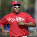 Philadelphia Phillies outfielder Marlon Byrd runs during a drill in a spring training baseball practice Wednesday, Feb. 19, 2014, in Clearwater, Fla The Associated Press