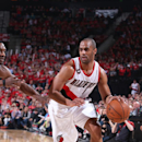 PORTLAND, OR - APRIL 27: Arron Afflalo #4 of the Portland Trail Blazers handles the ball against the Memphis Grizzlies in Game Four of the Western Conference Quarterfinals during the 2015 NBA Playoffs on April 27, 2015 at the Moda Center in Portland, Oregon. (Photo by Sam Forencich/NBAE via Getty Images)