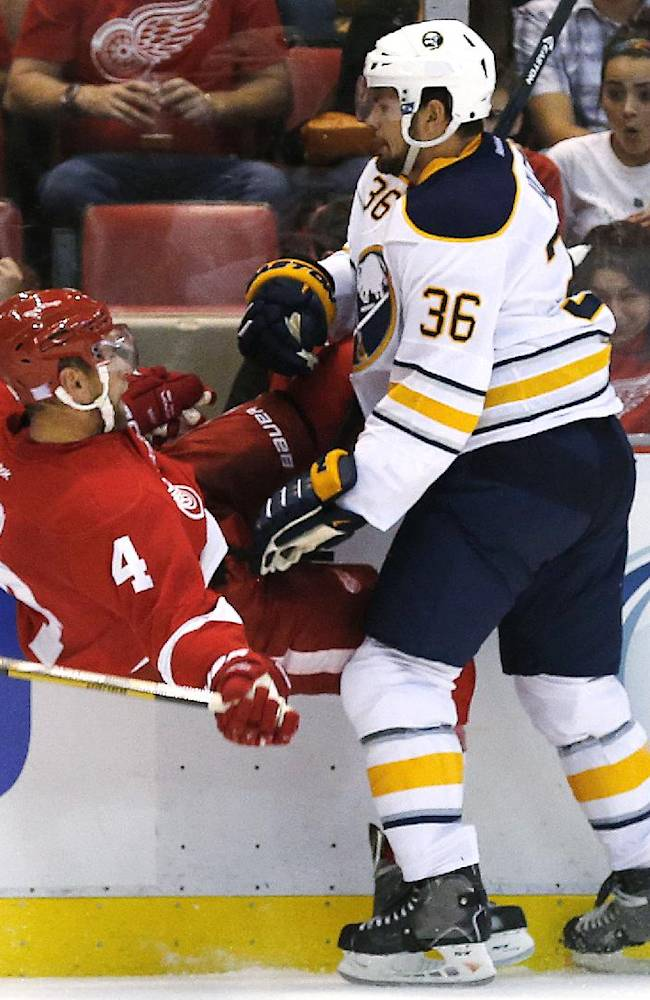 Red Wings open with 2-1 win over Sabres