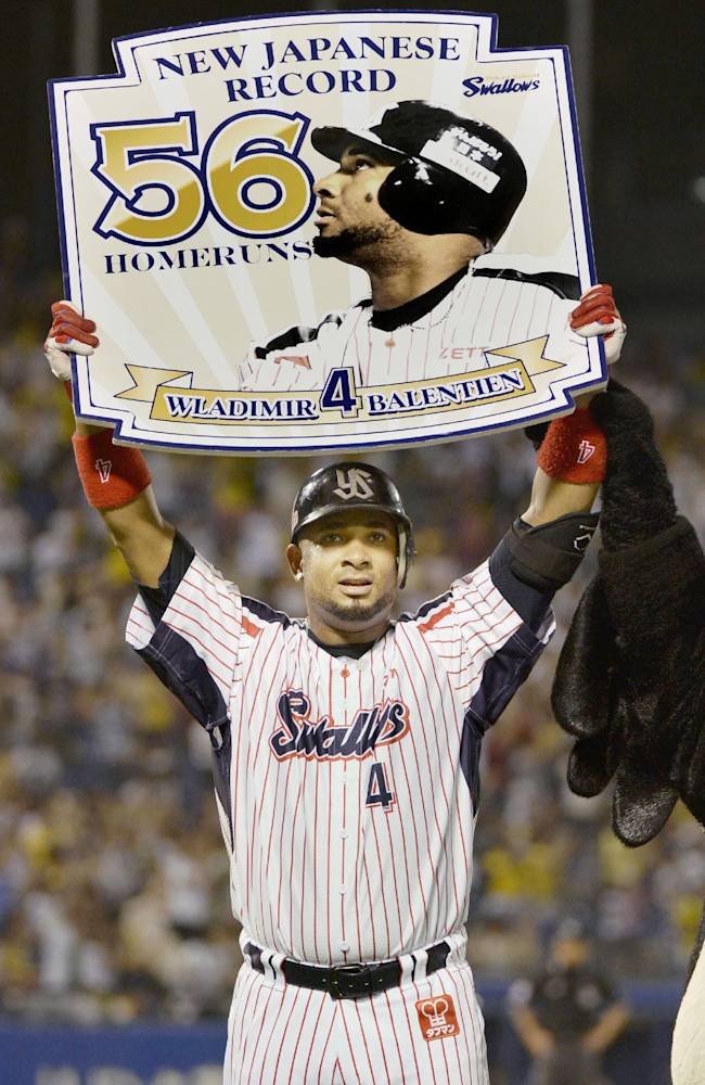 Balentien breaks Japan's home run record