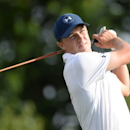 Jun 18, 2016; Oakmont, PA, USA; Jordan Spieth hits his tee shot on the 3rd hole during the third round of the U.S. Open golf tournament at Oakmont Country Club. Mandatory Credit: Michael Madrid-USA TODAY Sports