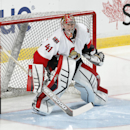 Ottawa Senators goaltender Craig Anderson (41) warms up prior to an NHL hockey game against the Florida Panthers, Friday, Nov. 28, 2014, in Sunrise, Fla The Associated Press