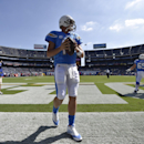San Diego Chargers quarterback Philip Rivers warms up before facing the Kansas City Chiefs in an NFL football game, Sunday, Oct. 19, 2014, in San Diego The Associated Press