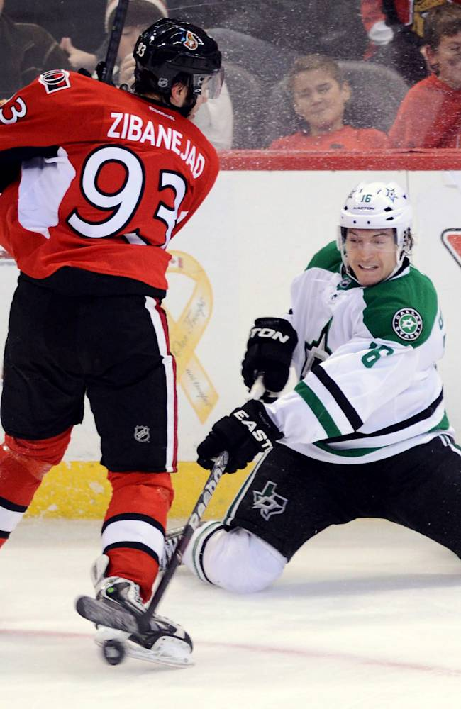 Stars slip past Senators, 4-3 in shootout