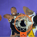 10ThingstoSeeSports - Brooklyn Nets' Jason Collins, left, battles for a rebound with Los Angeles Lakers' Jordan Hill during the first half of an NBA basketball game, Sunday, Feb. 23, 2014, in Los Angeles The Associated Press