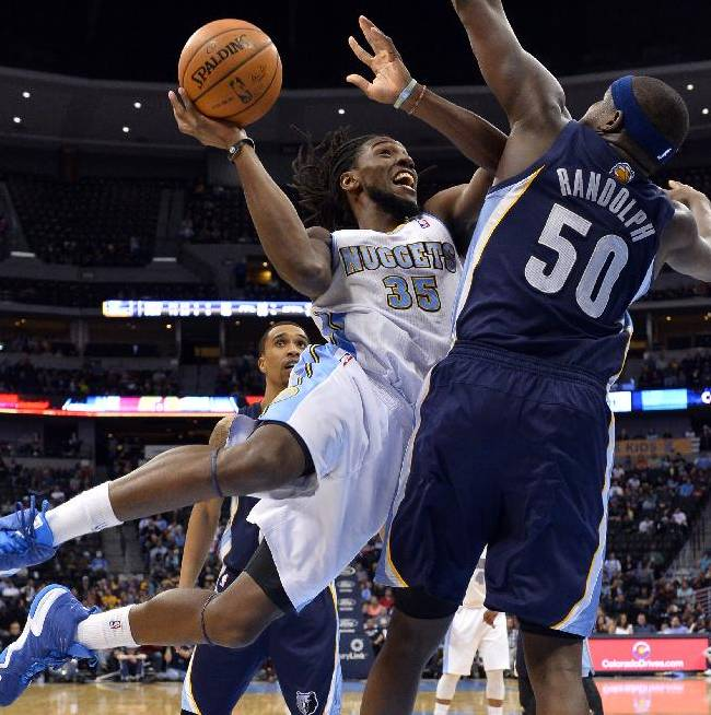 Grizzlies hold on to beat Nuggets, 94-92