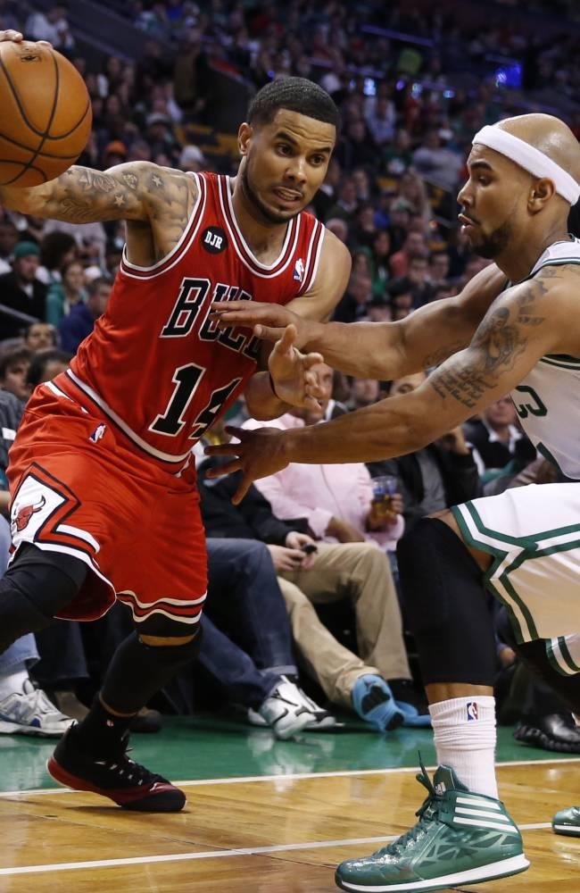 Bulls topple Celtics 107-102