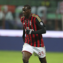 In this picture taken Saturday, Nov. 23, 2013, AC Milan forward Mario Balotelli controls the ball during a Serie A soccer match between AC Milan and Genoa, at the San Siro stadium in Milan, Italy. Liverpool could be about to replace one controversial str