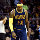 CLEVELAND, OH - OCTOBER 30: LeBron James #23 of the Cleveland Cavaliers looks on after a play in the second quarter against the New York Knicks at Quicken Loans Arena on October 30, 2014 in Cleveland, Ohio. (Photo by Jason Miller/Getty Images)